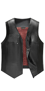 PU Feather Vest