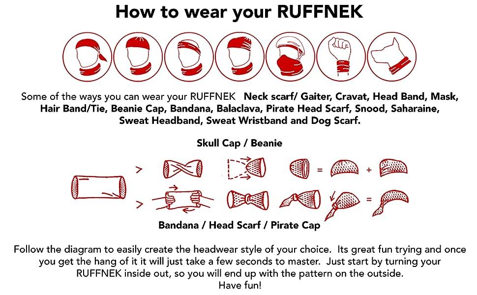 Ruffnek How to Wear Diagram