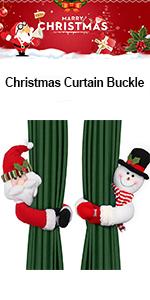 Christmas Curtain Buckle Tieback