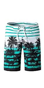 Men's American Flag Swim Trunks Beach Shorts with Mesh Lining