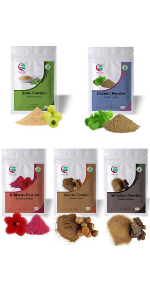 Ayurvedic powders for hair growth combo Pack