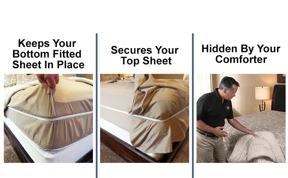 Bed Sheet Clip Fastener,2Pcs Multipurpose Multi-Function Adjustment Resistant Non-Slip Sheet Retainer Retaining Sheet Slip Fasteners Mattress Holder #1