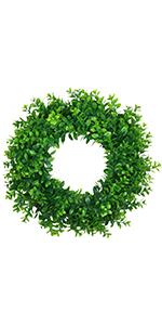 green wreath 17 inch