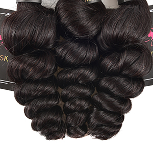 100% human hair bundles with closure loose wave , loose curly , tight loose , hair extension