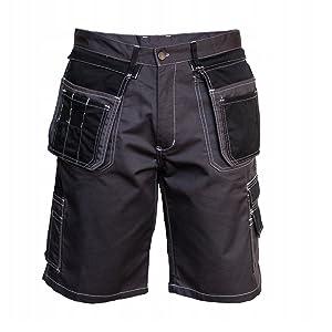 Pantaloni Professionali Pantaloni da Lavoro Pantaloni da Giardino Solido Pantaloncini da Lavoro da Uomo Elementi Riflettenti durevoli Pantaloncini da Giardino