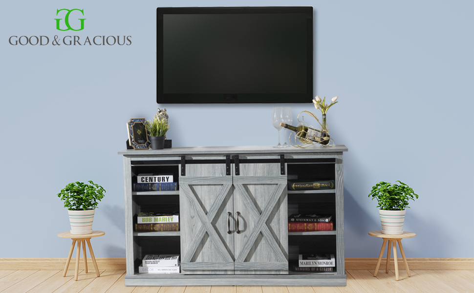 bedroom tv stand, living room tv stand, mid century tv stand, barn door tv stand, tv stand 65 inch
