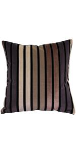 Amethyst Stripes Throw Pillow