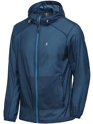 blue lightweight sun jacket for men