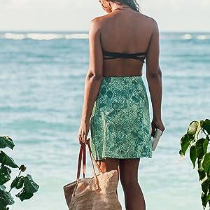 Skirt, Wrap, Cover-Up, Beach, Sun, Ripskirt, Hawaii
