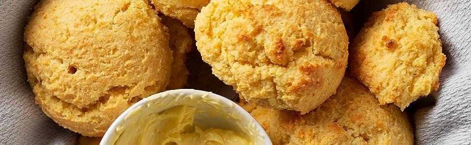 fluffy biscuit, flaky biscuit, healthy biscuit mix, paleo biscuit, paleo food, paleo snack,