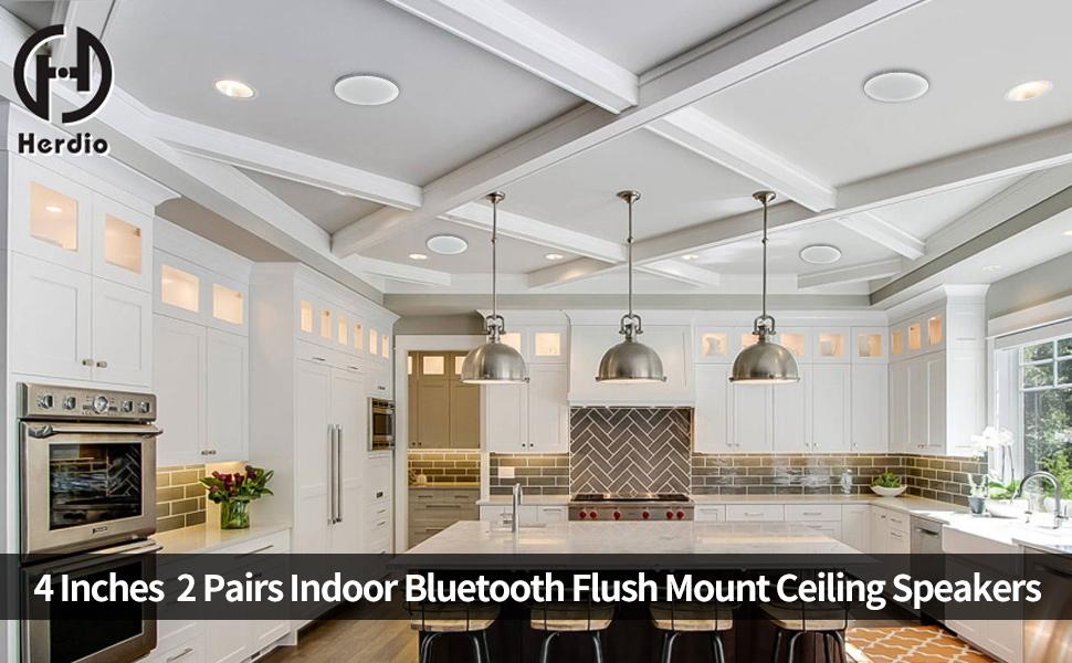 2 pair ceiling bluetooth speakers