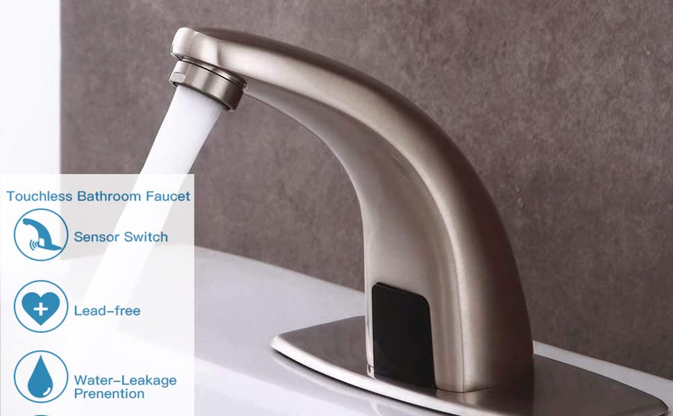 Hands Free Bathroom Water Tap with Control Box and Temperature Mixer  bwefacuet automatic