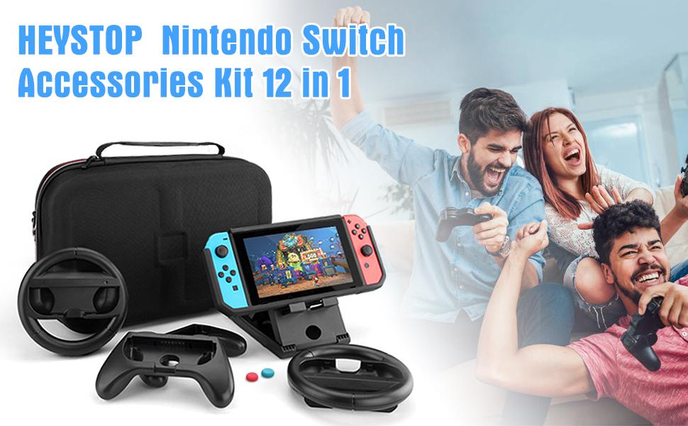 HEYSTOP Kit de Accesorios 12 en 1 para Nintendo Switch, con Funda ...