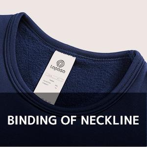 binding of neckline