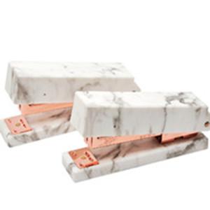 rose gold stapler marble desktop staplers office supplies set spring powered stapler rose gold