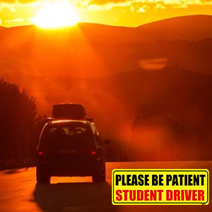 student driver magnet for car