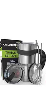 30oz Tumbler Set with Handle