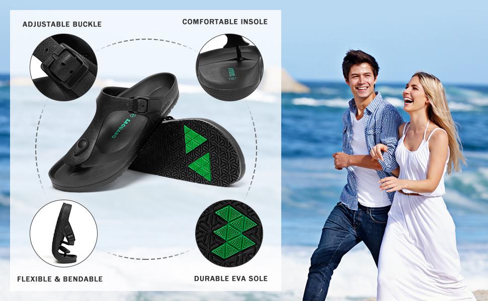 men buckle sandals
