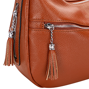 Smooth Zipper with Tassel Decoration