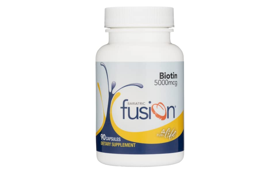 Bariatric Fusion Vitamin Biotin for Bariatric Patients, 90 Easy to Swallow Capsule