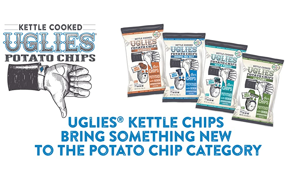 Potato chips, chips, uglies kettle chips