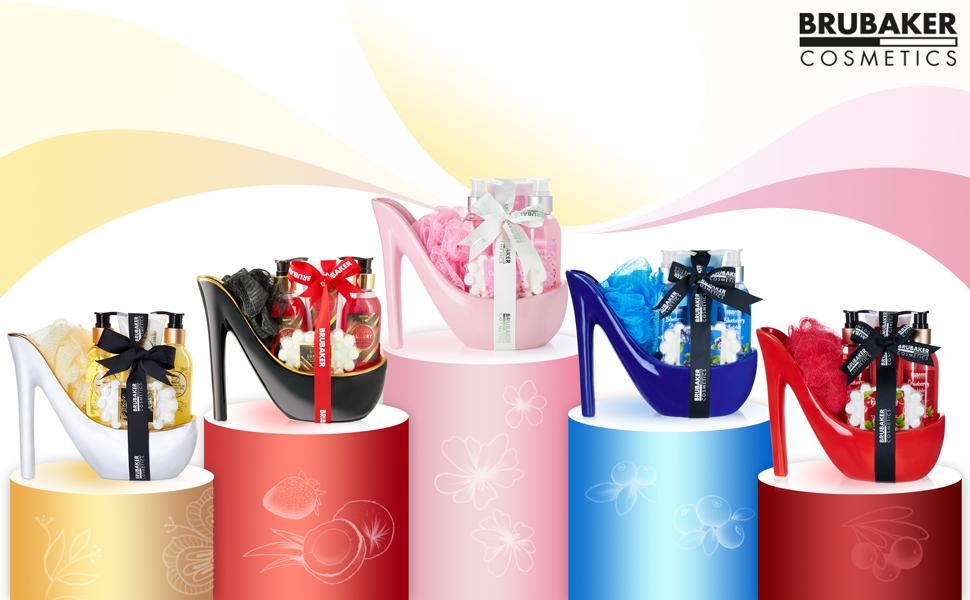 Illustration de groupe du Stiletto Beauty Set en 5 couleurs différentes
