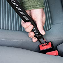 Happilax Cinturón de seguridad para perro en el coche, ajustable y ...