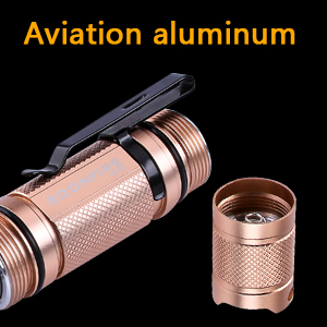 18650 Li-ion battery  Anodized Aircraft Grade Aluminum flashlight  stainless steel switch