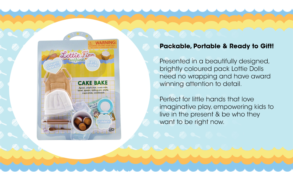 Lottie Dolls Cake Bake Accessory Set Perfect Toy for Girls and Boys