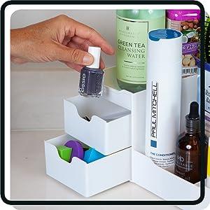 whitewood  cosmetics  eyeshadow  medicine cabinet  lipstick  holder acrylic  set
