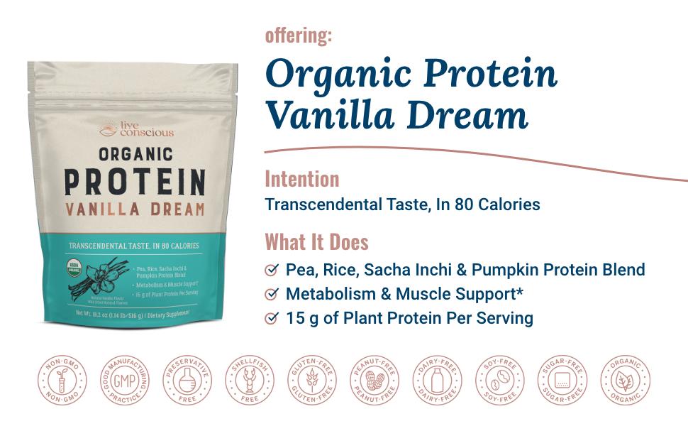 pea rice sacha inchi pumpkin protein drink powder