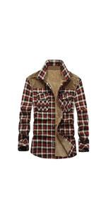 Sherpa Lined Flannel Plaid Shirt Jacket…