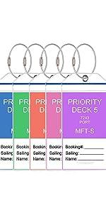 5 Pack Cruise Luggage Tag Waterproof PVC Holders