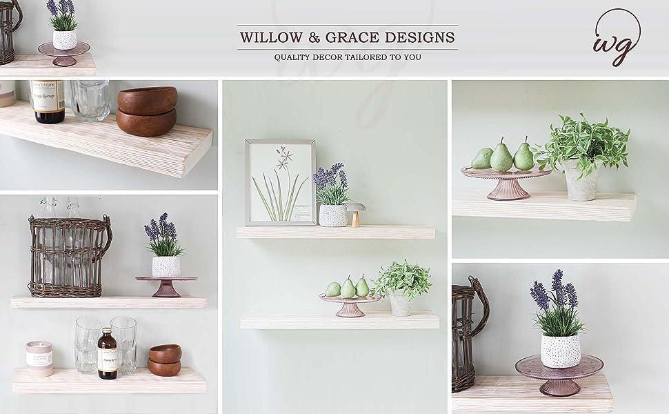 floating shelves, rustic shelves, white shelves, white floating shelves, wood shelves