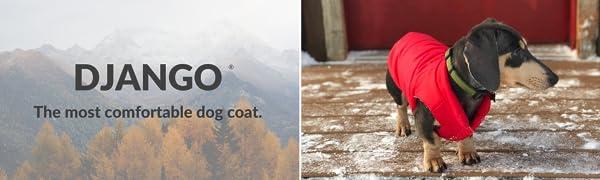 DJANGO Reversible Puffer Winter Dog Coat - Comfortable, Durable, and Water-Repellent Dog Jacket