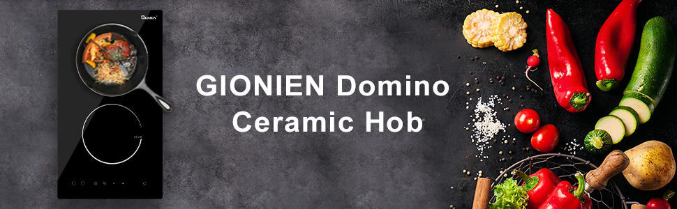 domino ceramic hob banner, keep your kitchen tidy