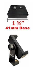 41mm quick release plate phone tripod mount