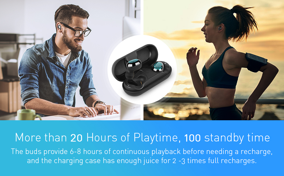 bluetooth earbuds wireless noise cancelling