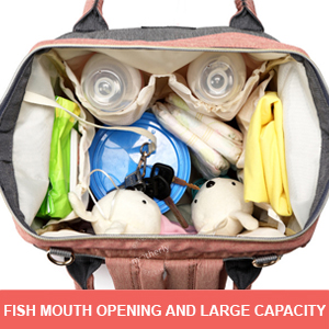Fish mouth opening of Motherly Diaper Bag