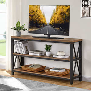industrial rustic Console sofa table entryway table for hallway vintage enty table