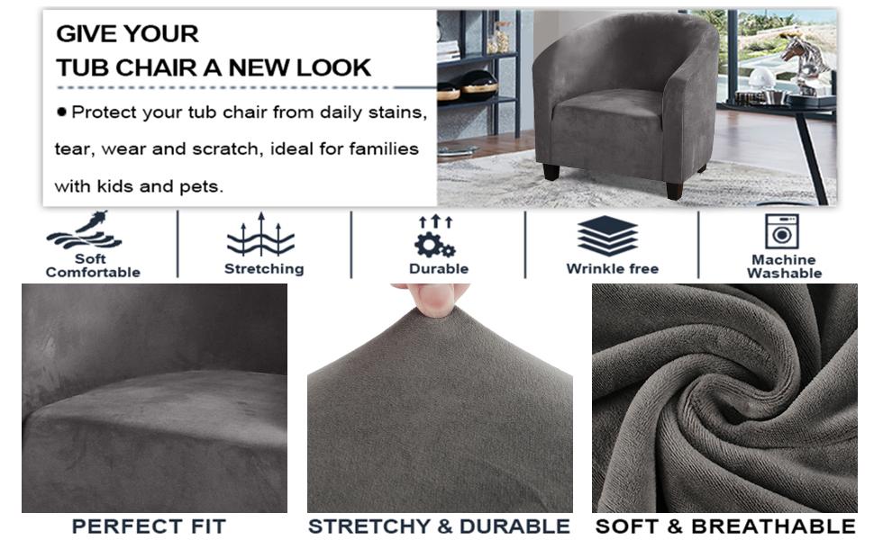 tub chair covers velvet modern tub sofa slipcover tub chair covers armchair slipcovers