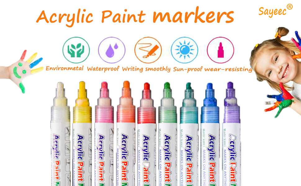 Acrylic paint marker set