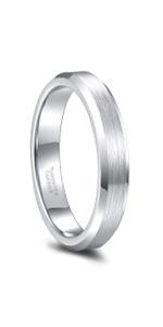 Tungsten Ring Silver