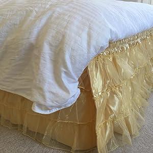 organza bed skirt