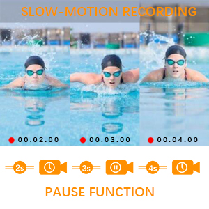 4K Camcorder Slowly Recording&Pause Function