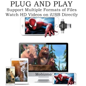 Plug and play in your phone and enjoy recording videos photos all your data in 4 in 1 card reader