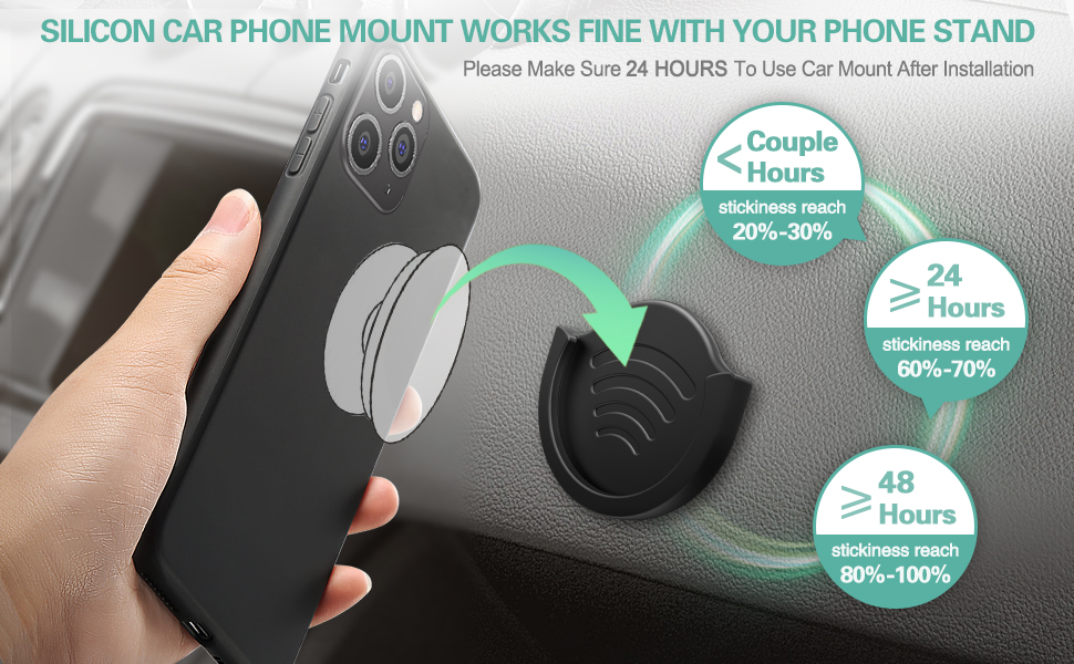 car phone mount for collapsible grip stand