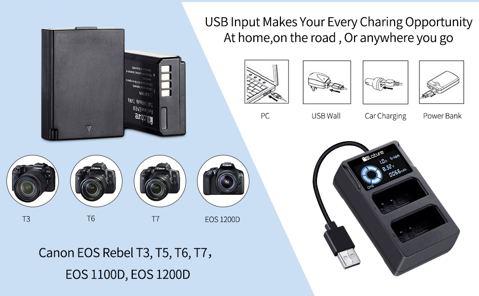 canon t6 battery