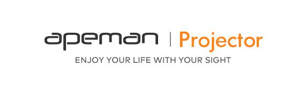 Mini proyector, APEMAN Pantalla Grande Soporte 1080P, ± 30° Corrección Electrónica Remota, Altavoces Duales, 50,000 Horas, Compatible con HDMI/USB/Teléfono Inteligente/TV Stick/PS4, para Cine en Casa: Amazon.es: Electrónica