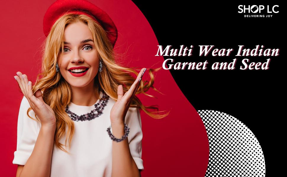 Multi Wear Indian Garnet and Seed Bead